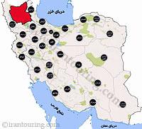دانلود مسیرهای گردشگری آذربایجان شرقی
